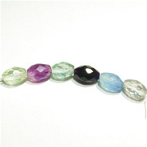 《Present》  フローライト(AAA) ライスカット9X6mm   【6個】