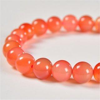 《天然色》 オレンジ瑪瑙 ブレスレット 8mm 《健康と富貴をもたらす石》