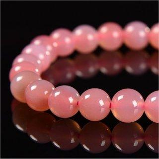 《天然色》 ピンク瑪瑙 ブレスレット 7-7.5mm 《絆を深め健康と富貴をもたらす石》 【会員割引】