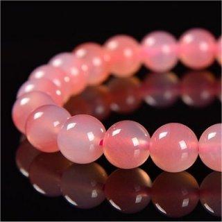 《天然色》 ピンク瑪瑙 ブレスレット 7.6-8mm 《絆を深め健康と富貴をもたらす石》