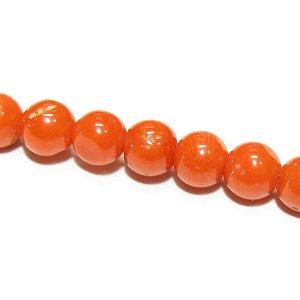 本珊瑚 レッドコーラル(天然色)ラウンド4.5mm 【1個】 《心身の健康を守る石》