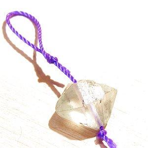 《Present》 天然Wポイント 水晶(穴あき)11mm   【1個】