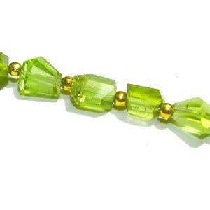 《宝石質》 ペリドット (AAA-) タンブルカット5-9mm 【1個】 《前向きに生きられるようサポートする石》