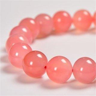 《天然色》 ピンク瑪瑙 ブレスレット 10mm 《絆を深め健康と富貴をもたらす石》