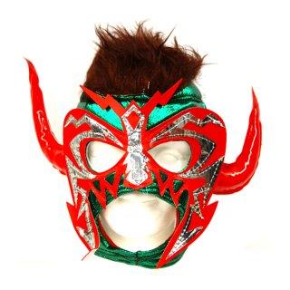 ルチャマスク(プロレスマスク)グリーン/レッド/角
