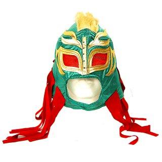 ルチャマスク(プロレスマスク)グリーン/ゴールドヘア