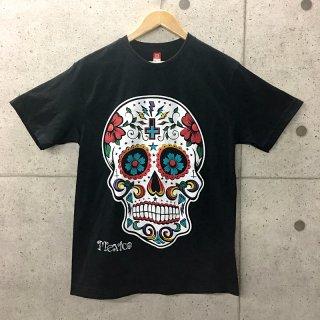 スカルTシャツ ホワイト|メキシコTシャツ