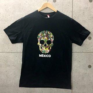 スカルTシャツ フラワー|メキシコTシャツ