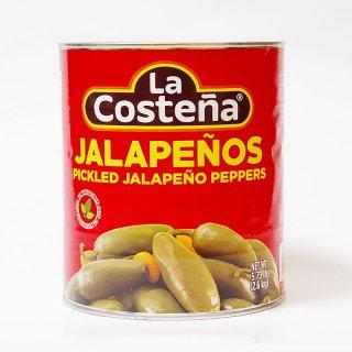 ハラペーニョ 唐辛子の酢漬け(ホール)2600g JALAPENO Pickled Jalapeno Peppers [La Costena]|メキシコ料理食材