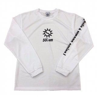 ドライロングTシャツ ホワイト×ブラック