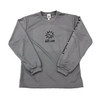 ドライロングTシャツ グレー×ブラック