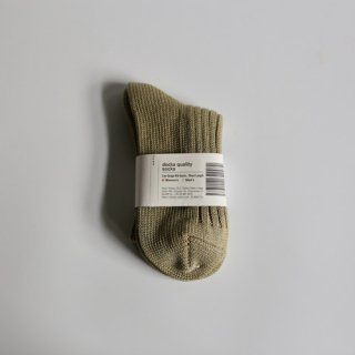 decka_Low Gauge Rib Socks_Women's(カーキ)