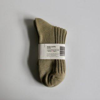 decka_Low Gauge Rib Socks_Men's(カーキ)