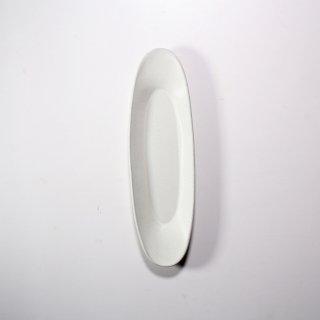 3RD CERAMICS_楕円皿(ホワイト:M )