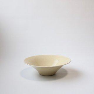 船串 篤司_灰釉鉢(白:21.5cm)