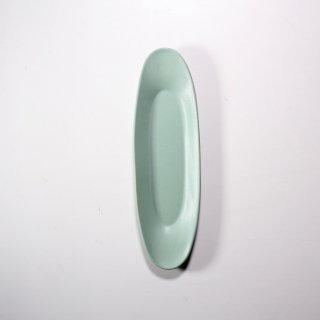 3RD CERAMICS_楕円皿(ターコイズ:M )