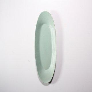 3RD CERAMICS_楕円皿( ターコイズ:L )