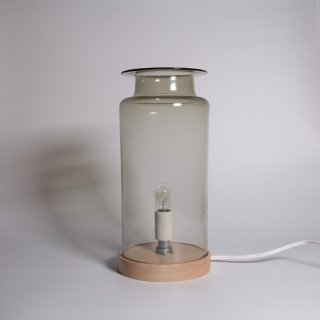 qualia-glass works_TableLight smoke×natural (No.68)