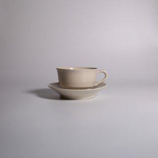 大浦 裕記_白錫_tea cup & saucer