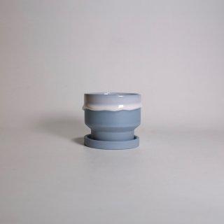 EIJI MIYAKI _   flower pot S ( blue gray )