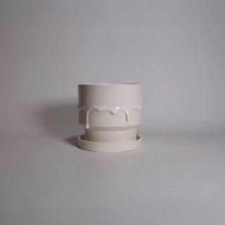 EIJI MIYAKI _   flower pot M ( White × White )
