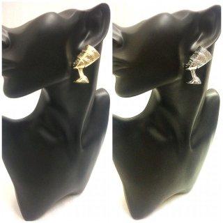 【全2色】※ネックレスとセットがオススメ! ネフェルティティ アフリカ エジプト Egypt 古代女王 アクセサリー ゴールド ピアス