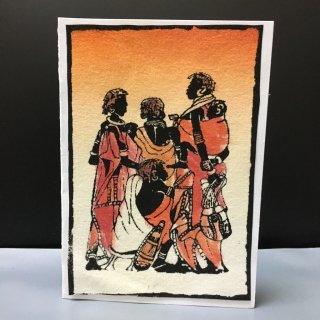 ケニア直輸入 ケニア産 ケニア アート Art of Africa Kenya 絵画 絵 ポストカード インテリア