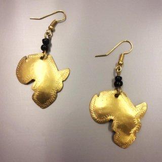ケニア直輸入 ケニア産 真鍮 黄銅 アフリカ大陸 アフリカン ゴールド ハンドメイド ピアス Brass