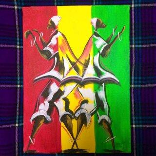 委託商品 Art of Africa アート アフリカ アフリカンアート ガーナ 絵画 インテリア