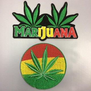 DIY ワッペン ラスタ ラスタカラー マリファナ ジャマイカ レゲエ Africa Jamaica Reggae Marijuana Leaf