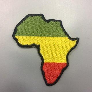 DIY アフリカ大陸 ワッペン アフリカ ラスタ ラスタカラー ジャマイカ レゲエ African map Africa Jamaica Reggae