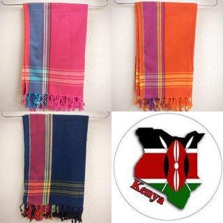 ケニア直輸入 ケニア産 アフリカ ケニア キコイ ショール Kenya Kikoi