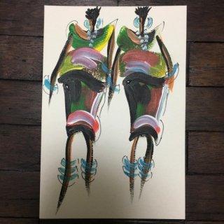 Art of Africa ポストカード アート アフリカ アフリカンアート ガーナ 絵画 インテリア