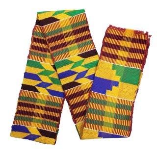 <img class='new_mark_img1' src='https://img.shop-pro.jp/img/new/icons25.gif' style='border:none;display:inline;margin:0px;padding:0px;width:auto;' />Made in Ghana 手織り 織物 アフリカ ケンテ スカーフ 飾り インテリア 帯 Africa Kente
