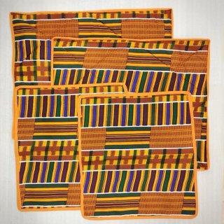 ケンテ アフリカ アフリカン ランチョンマット テーブルマット 2点セット インテリア Africa Kente