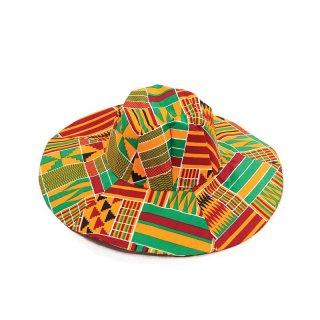 Made in Ghana アフリカ ケンテ ハット 帽子 Africa Kente