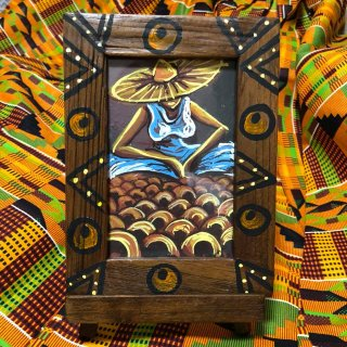 アフリカンアート × アジアンフォトフレーム CFCオリジナル アート インテリア ガーナ 絵画
