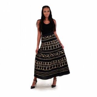 アフリカ エスニック ブラック×ゴールド 巻きスカート