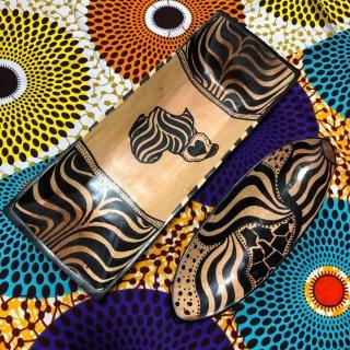 南アフリカ ハンドメイド ペイント ウッド プレート インテリア South Africa wood handmade plate