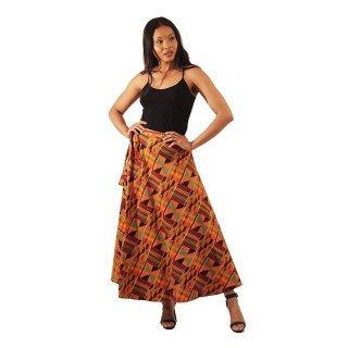 アフリカ ケンテ ラップスカート 巻きスカート 紐結び スカート Africa Kente skirt