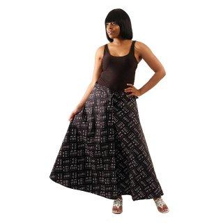 アフリカ マッドプリント ラップスカート 巻きスカート 紐結び スカート Africa Mud print skirt