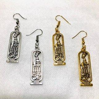 ネフェルティティ ホルスの目 ヒエログリフ ピアス アフリカ エジプト Egypt 古代女王 ネックレス ゴールド シルバー