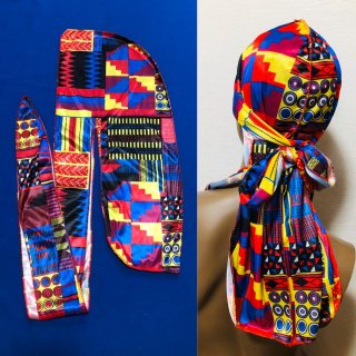 <img class='new_mark_img1' src='https://img.shop-pro.jp/img/new/icons55.gif' style='border:none;display:inline;margin:0px;padding:0px;width:auto;' />ユニセックス アフリカンプリント ドゥーラグ ヒップホップ ダンス ダンス衣装 Africanprint Du-rag hiphop old school dance
