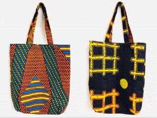 アフリカンプリント アフリカ布 ハンドメイド リバーシブル エコバッグ Africanprint Handmade Reversible Eco Bag
