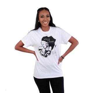 アフリカ 女性 子ども ホワイト Tシャツ ガーナ A王frica T-Shirt Family Is A Forest Ghana Akan