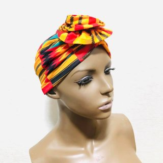 <img class='new_mark_img1' src='https://img.shop-pro.jp/img/new/icons55.gif' style='border:none;display:inline;margin:0px;padding:0px;width:auto;' />アフリカンプリント らくらくターバン ターバン帽子 ヘッドラップ Africa Head wrap