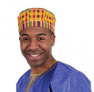 アフリカンプリント ケンテ パーニュ キテンゲ キャップ ハット 帽子 African print Kente Kufi Hat
