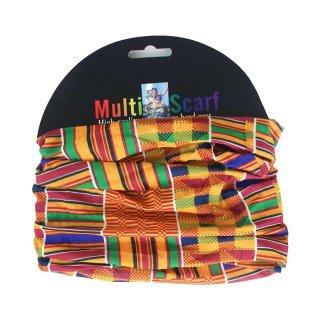 アフリカ布 アフリカンプリント ケンテ マルチ スカーフ ヘッドラップ African print Head wrap Kente