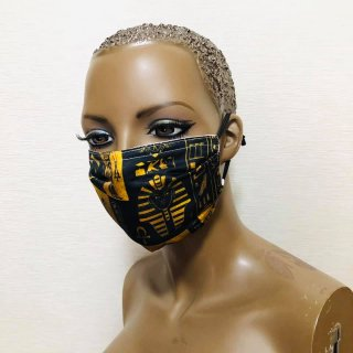 PM2.5 フィルター5枚付き エジプト ポリエステル 男女兼用 ユニセックス マスク プリーツマスク