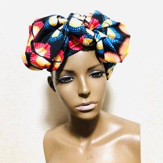 アフリカンプリント マルチ ターバン ヘッドラップ African print Turban Head wrap